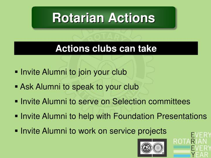 Rotarian Actions
