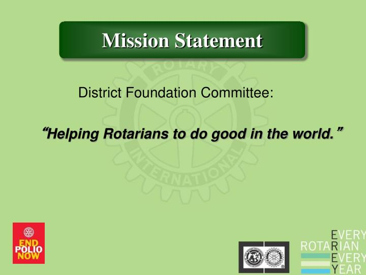 District Foundation Committee: