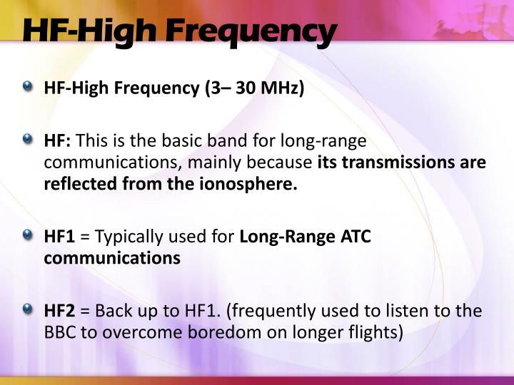 HF-High Frequency