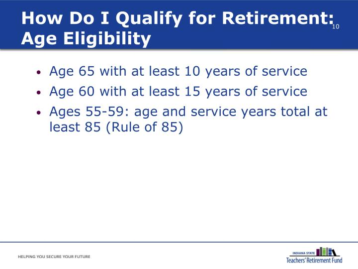 How Do I Qualify for Retirement: Age Eligibility