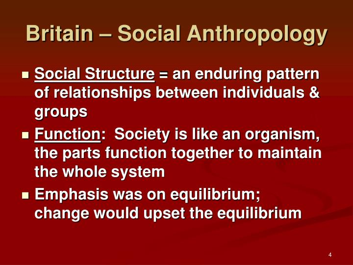 Britain – Social Anthropology