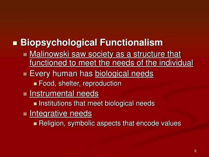 Biopsychological Functionalism