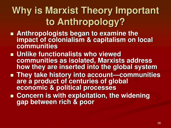 Why is Marxist Theory Important to Anthropology?