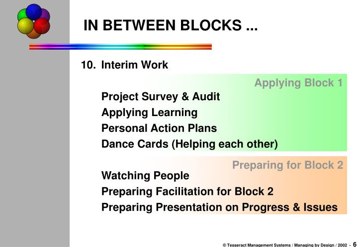 Applying Block 1