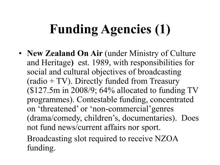 Funding Agencies (1)