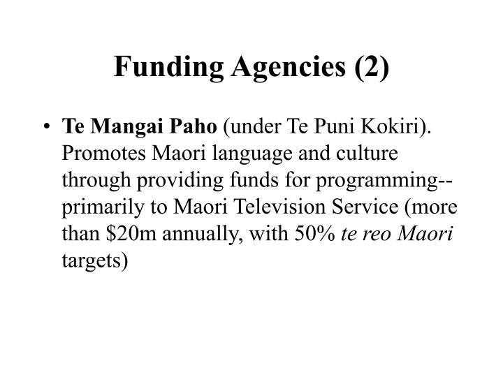 Funding Agencies (2)
