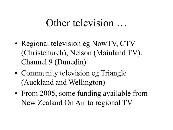 Other television …