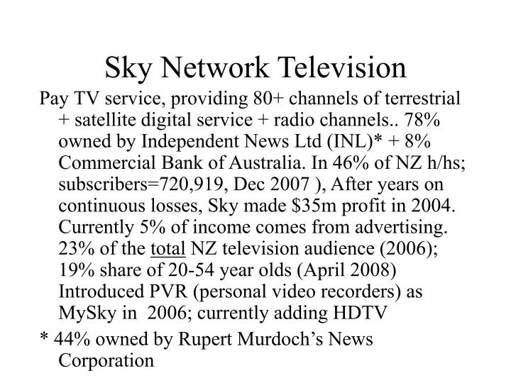 Sky Network Television