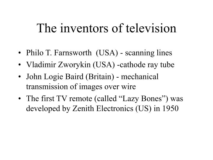 The inventors of television