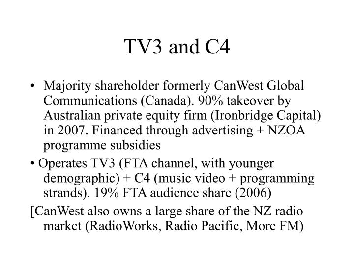 TV3 and C4