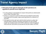 travel agency impact