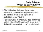 duty ethics what is our duty