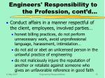 engineers responsibility to the profession cont d1