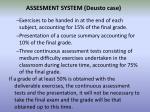 assesment system deusto case