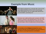 example from music