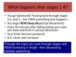what happens after stages 1 4