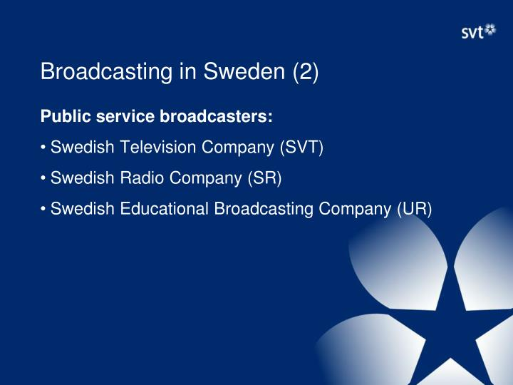 Broadcasting in Sweden (2)