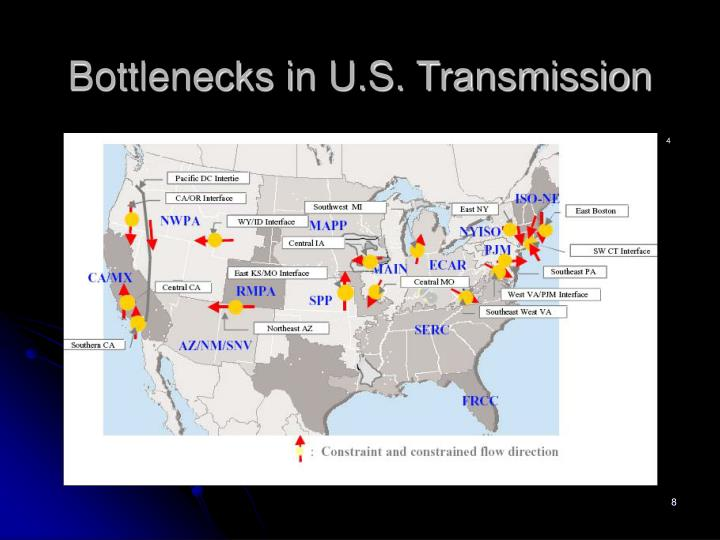 Bottlenecks in U.S. Transmission