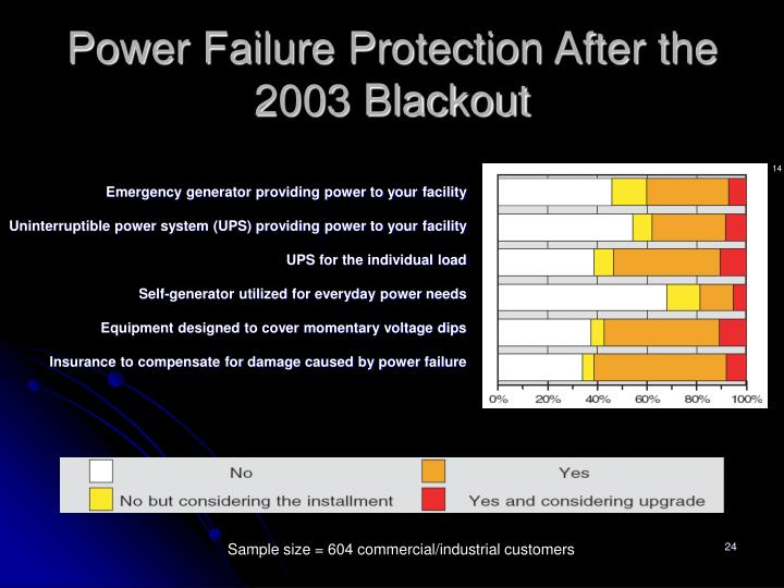 Power Failure Protection After the 2003 Blackout