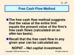 free cash flow method