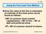 using the free cash flow method