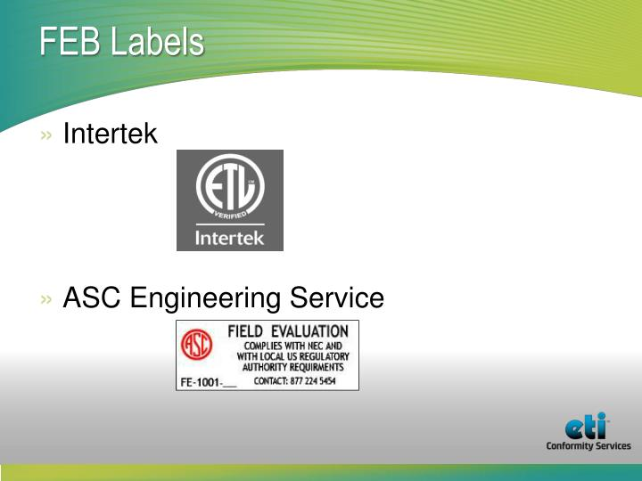 FEB Labels