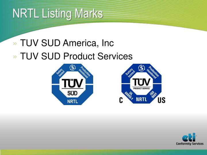 NRTL Listing Marks