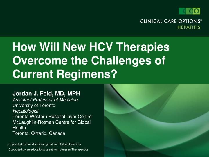How will new hcv therapies overcome the challenges of current regimens