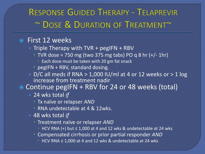 Response Guided Therapy -