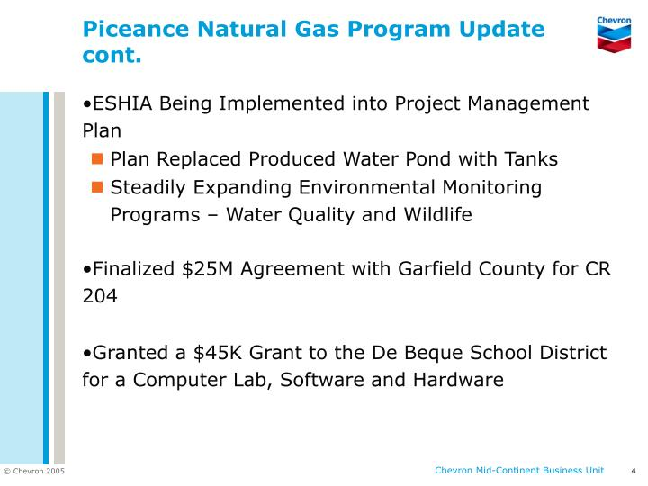 Natural Gas Pipeline Monitoring Water Quality