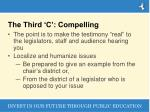 the third c compelling