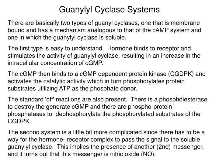 Guanylyl Cyclase Systems