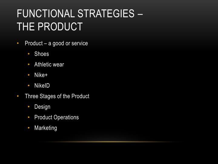 functional strategies –