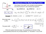 sharpness of the multiplicity function