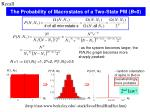 the probability of macrostates of a two state pm b 0