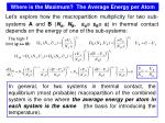 where is the maximum the average energy per atom