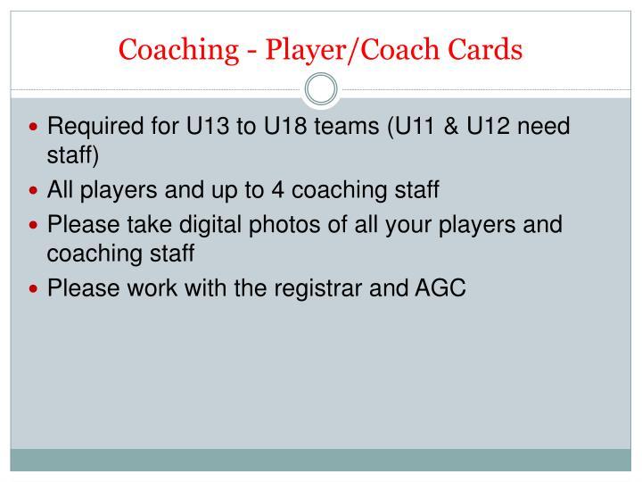 Coaching - Player/Coach Cards