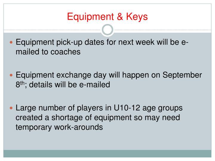 Equipment & Keys