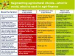 segmenting agricultural clients what to avoid what to seek in agri finance