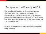 background on poverty in usa