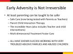 early adversity is not irreversible