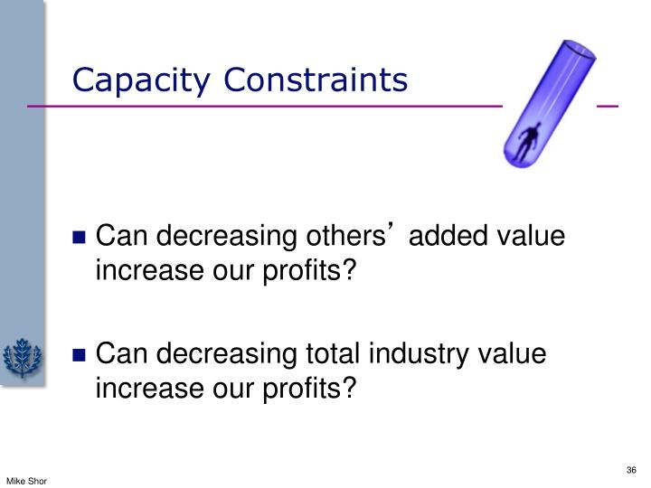 Capacity Constraints