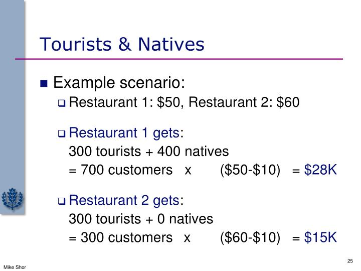 Tourists & Natives