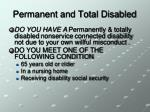 permanent and total disabled