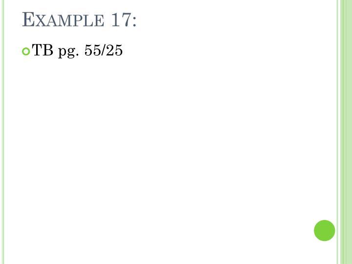 Example 17: