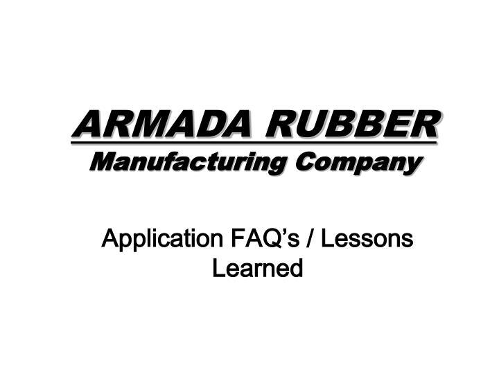 ARMADA RUBBER