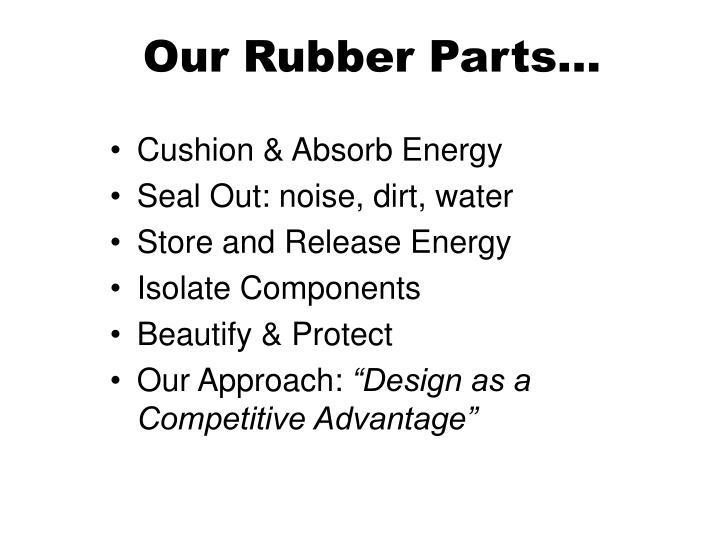 Our Rubber Parts…