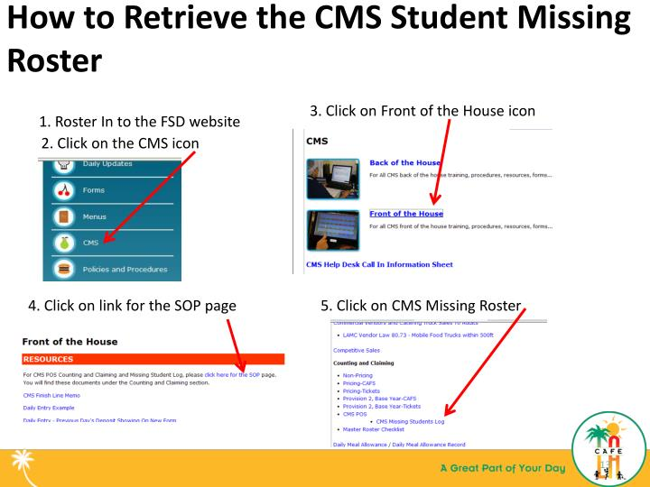 How to Retrieve the CMS Student Missing Roster