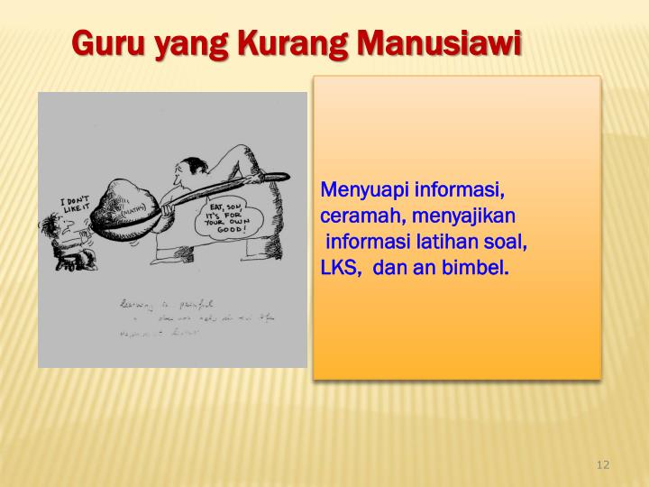 Menyuapi informasi,