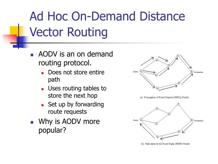 Ad Hoc On-Demand Distance Vector Routing